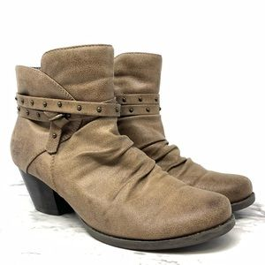 Baretraps Rainly Vegan suede booties tan 7.5
